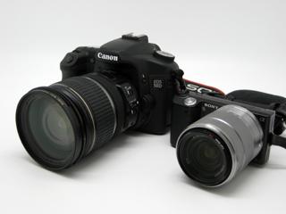 EOS 50DとNEX-5のツーショット