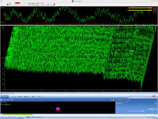 MP3のスペクトル(周波数はリニア表示)